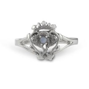 Scottish Luckenbooth Ring with Agate Gemstone 9681